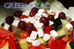 Delicious Greek Salad by the Mediterranean