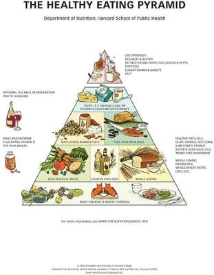 The Healthy Eating Mediterranean Pyramid