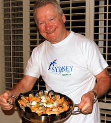 David Shows off a Great Paella