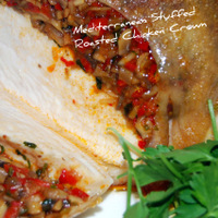Roasted Stuffed Mediterranean Chicken Crown