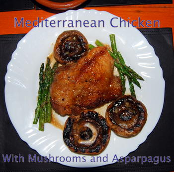 Mediterranean Chicken and Mushrooms