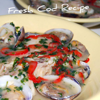Mediterranean Cod Recipe with Clams