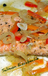 Mediterranean Diet Salmon Escabeche Recipe