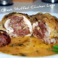 Juicy Greek Stuffed Chicken Leg
