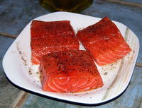 Salmon Cutlets in their marinade