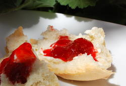 Strawberry Jam on Crusty Bread