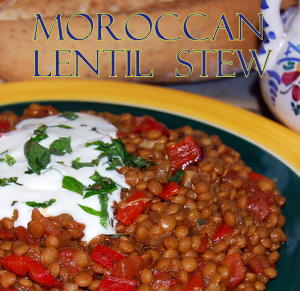 Mediterranean Lentil Recipe - Spicy Stew