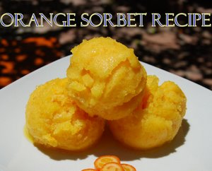 Orange Sorbet Recipe, refreshing and Delicious