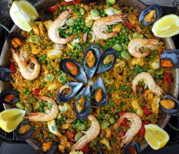Spanish Mediterranean Seafood Paella