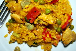Paella Recipe - Creamy Rice and Chicken