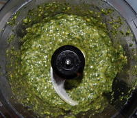 Pesto in the Food Processor