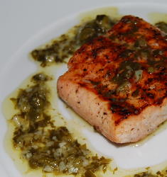 Grilled Salmon Recipe - with Salsa Verde