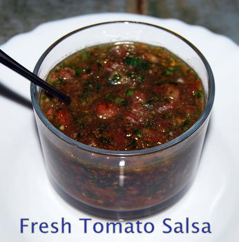 Fresh Tomato Salsa Recipe from the Mediterranean