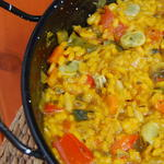 Spanish Paella with fresh vegetables
