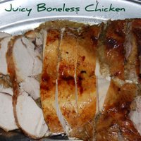 Juicy Boned and Roasted Chicken