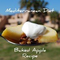 Spicy Mediterranean Diet Baked Apples