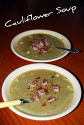 Mediterranean Diet Cauliflower Soup Recipe