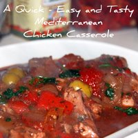 The Easy Mediterranean Chicken Casserole