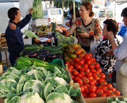 Fresh Mediterranean Fruit and Vegetables at the Market