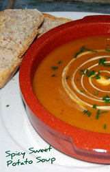 Mediterranean Diet Sweet Potato Soup Recipe