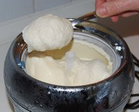 Pour or Spoon Custard into Container