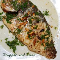 A Mediterranean Wole Baked Fish Recipe