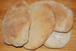 Mediterranean Pitta Bread Fresh from the Oven