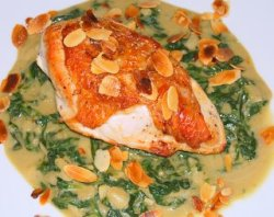 Pan Fried Chicken and Spinach Recipe