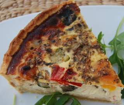 Vegetable Quiche Recipe - Roasted Mediterranean Vegetables