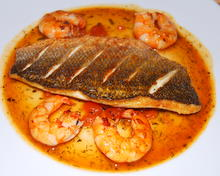 Juicy fish Fillets with Prawns