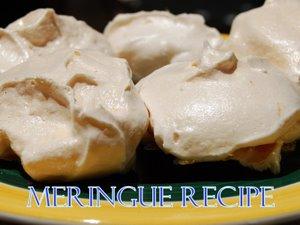 Crunchy squigy Meringues