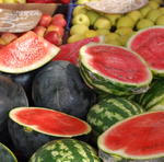 Juicy Watermelons at San Pedro Market