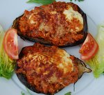 Mediterranean Recipes - Stuffed Aubergine.